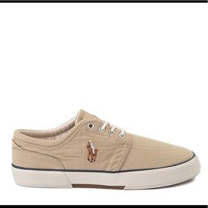 Mens Polo Ralph Lauren Khaki Casual Chic Sneakers